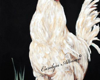 Art Print - Big White Rooster.....canvas art print
