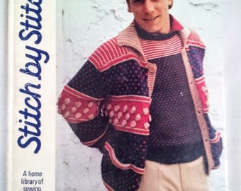 Stitch by Stitch Book Volume 9, Vintage Hardcover Book, Patterns & Instructions for Sewing, Knitting, Crochet  and Needlecraft, 1985 Torstar
