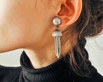 Vintage Silver Tassel Earrings