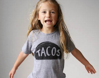 Kids Taco Tuesday Shirt, back to school graphic tee, unisex toddler gift for kids funny t-shirt, tri blend t shirt, American Apparel kids