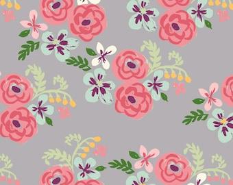 Monaluna Bloom Flora Organic Cotton Fabric Floral