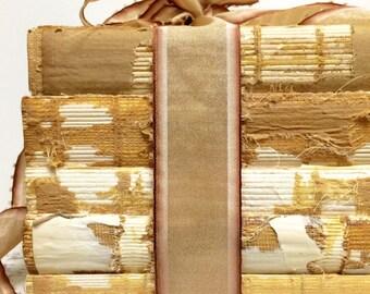 Home Trend, Bookshelf Decor, Tall Books, Vintage, Autumn, Repurposed Book, Uncovered, Raw Books, Trending Decor, Books with Burlap, Texture