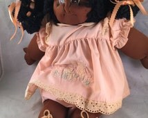 Vintage Homemade African American Cabbage Patch Doll