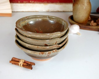 Set of Four Soup Bowls in Brownstone - Made to Order