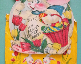 Vintage Voco Easter Record Vinyl in Original Sleeve Envelope The Bunny Easter Party
