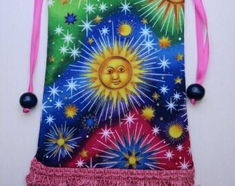 Light and Bright Celestial Tarot Pouch, Tarot Bag