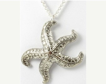 Vintage Silver Starfish Necklace