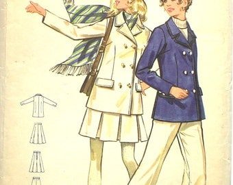 UNCUT 1960's Jacket and Skirt Butterick 5516 Bust 36 Size 14