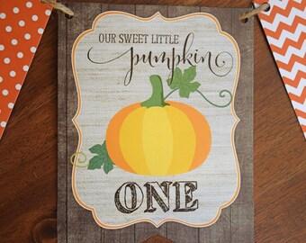 Little Pumpkin Banner, Little Pumpkin First Birthday, Pumpkin Banner, Little Pumpkin 1st Birthday, Pumpkin Birthday Banner, Pumpkin Birthday