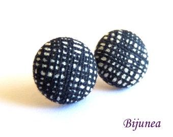 Black earrings - Black stud earrings - Black posts - Black studs sf1273