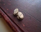 tiny victorian repousse gold filled cuff links - dapper gentlemen fathers day gift - antique jewelry
