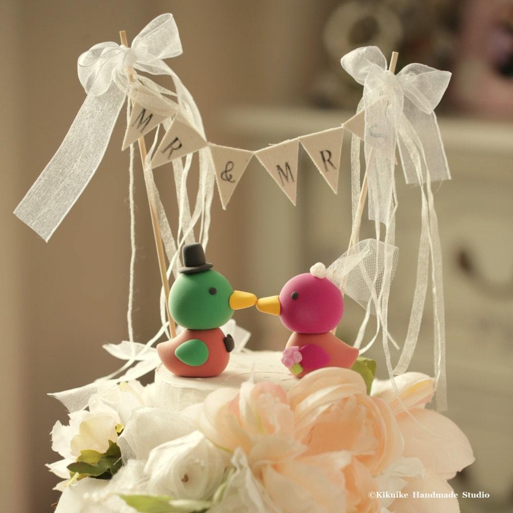 Korean Wedding Duck Cake Topper