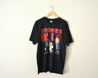 "1989' ""Guns N Roses"" Stoned In L.A. T-Shirt"