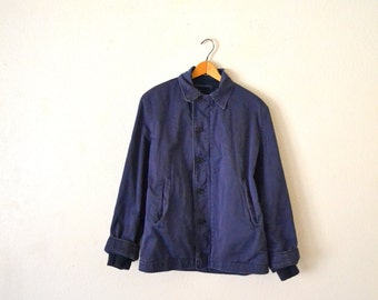 1970's Blue/Indigo Workwear Jacket