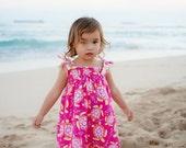 Girls Beach Dress - Sea Turtle Dress - Hawaii Dress