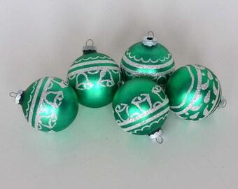 Shiny Brite Glass Christmas Tree Ornaments in Box