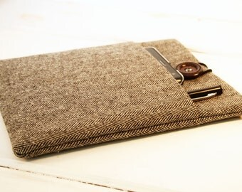 Mens Kindle Paperwhite Case| Samsung Case|Unisex Kindle Paperwhite Sleeve|Nook Glowlight|Mans Herringbone Case|Made to FIT ANY BRAND Reader
