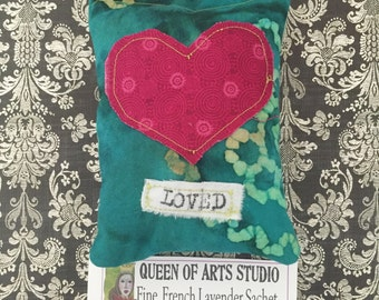 You Are Loved Stitched Lavender Sachet