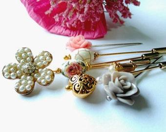 Sweet Paradise - Hijab Pin, Hat Pin, Lapel Pin