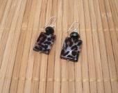 Leopard Print Earrings Big Earrings Black Dangles Trend Earrings Animal Print Drop Brown Earring Leopard Earrings Long Shell Dangle Jungle