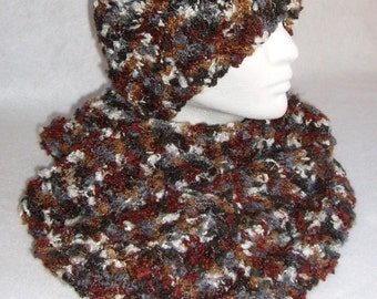 Fuzzy Boucle Hat & Scarf