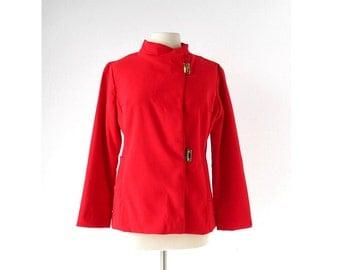 Vintage Ski Jacket / 60s Coat / Swiss Ski Jacket / Spinnerin / M L