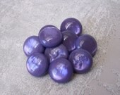 Amethyst Purple Buttons 13mm - 1/2 inch MoonGlow Purple Plastic Shank Buttons - 10 VTG Marbled Ripple Luminescent Vintage Buttons PL522 2LS
