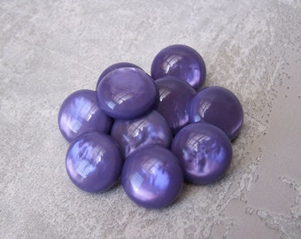 Amethyst Purple Buttons 13mm - 1/2 inch MoonGlow Purple Plastic Shank Buttons - 10 VTG NOS Marbled Ripple Luminescent Vintage Buttons PL522