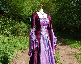 Medieval Dress Wedding gown Handfasting Available in sizes XS to XXL Custom made for you.
