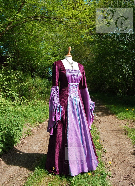 Elven dress Wedding gown Handfasting Celtic Available in sizes S to XXL Custom made for you.
