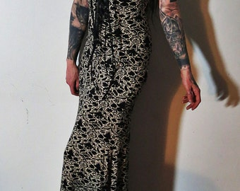 Hell Couture Mourning Dawn Lace Up Maxi Dress