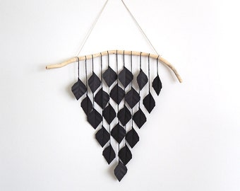 Very Black Pizza Drops, wall hanging, hanging mobile, home decor