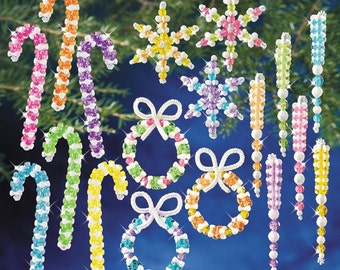100 Piece Candy Beaded Ornament Kit DIY Beaded Ornaments Christmas Tree Ornaments Holiday Bead Kits Make Your Own Ornaments