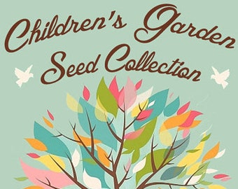 Children's Garden Seed Collection Kit for Kids Heirloom & Organic