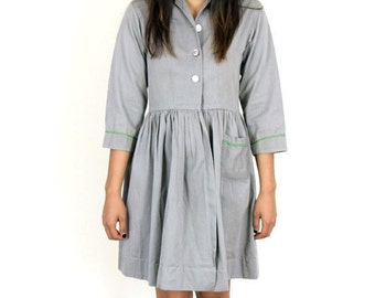 Grey School Girl Dress