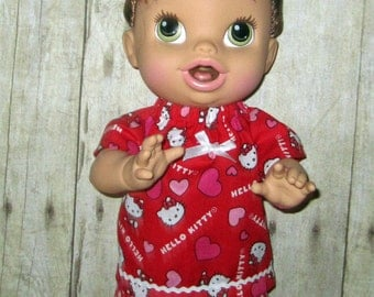 Corolle Tidoo, Corolle Calin, Doll Clothes,  Baby Alive, All Gone, Hello Kitty Short Set, Doll Clothes, 12 or 13 inch Doll Clothes,