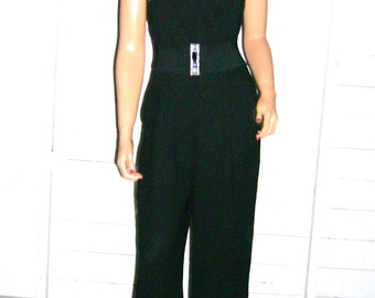 Black Strapless Jumpsuit M