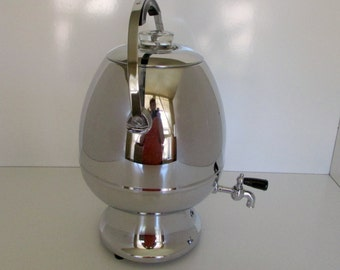Art Deco Chrome Coffee Server Pod or Egg Shaped 1960s Deco Revival Period Labelle Coffee Pot Great for Wedding Banquet Perculator