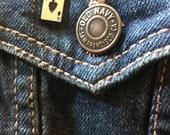 Ace of spades enamel pin, vintage lapel pin