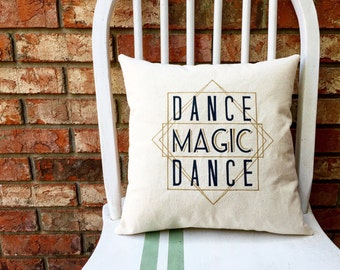 The Labyrinth- Dance Magic Dance, Customizable Lyric Pillow