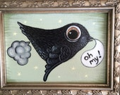 Gassy Little Bird original framed painting