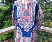 Vintage Dashiki, TRIBAL Tunic, African Dashiki, African Blouse, Dashiki Shirt, size S