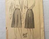 """Butterick 2095, vintage 1942 gored skirt pattern waist 28"""""""