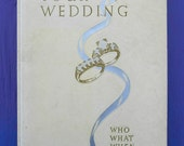 Vintage mid century 1959 Your Wedding Who What When Where Winifred Gray National Bridal Service retro wedding planning how to ornate book