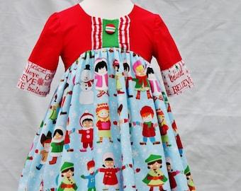 Girls Christmas Carol Dress sz 4t  Ready to Ship
