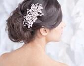 SAMPLE SALE - floral rhinestone headpiece, fascinator, wedding, comb