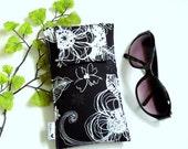 Roomy Sunglasses Case in a Black and White Design
