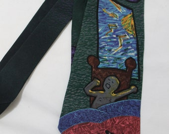 Vintage Authentic Beatles Silk Necktie - Good Morning Good Morning, Manhattan Menswear 1991
