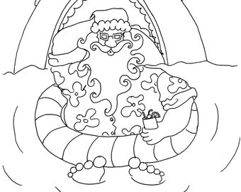 Jaws adult coloring etsy for Jaws coloring pages