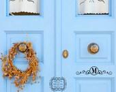 Monogram with Scroll Design  / Front Door Decal / Mailbox Decal / Curb Appeal / Custom Decal /  Scroll Decal / Mailbox / Decals / Welcome